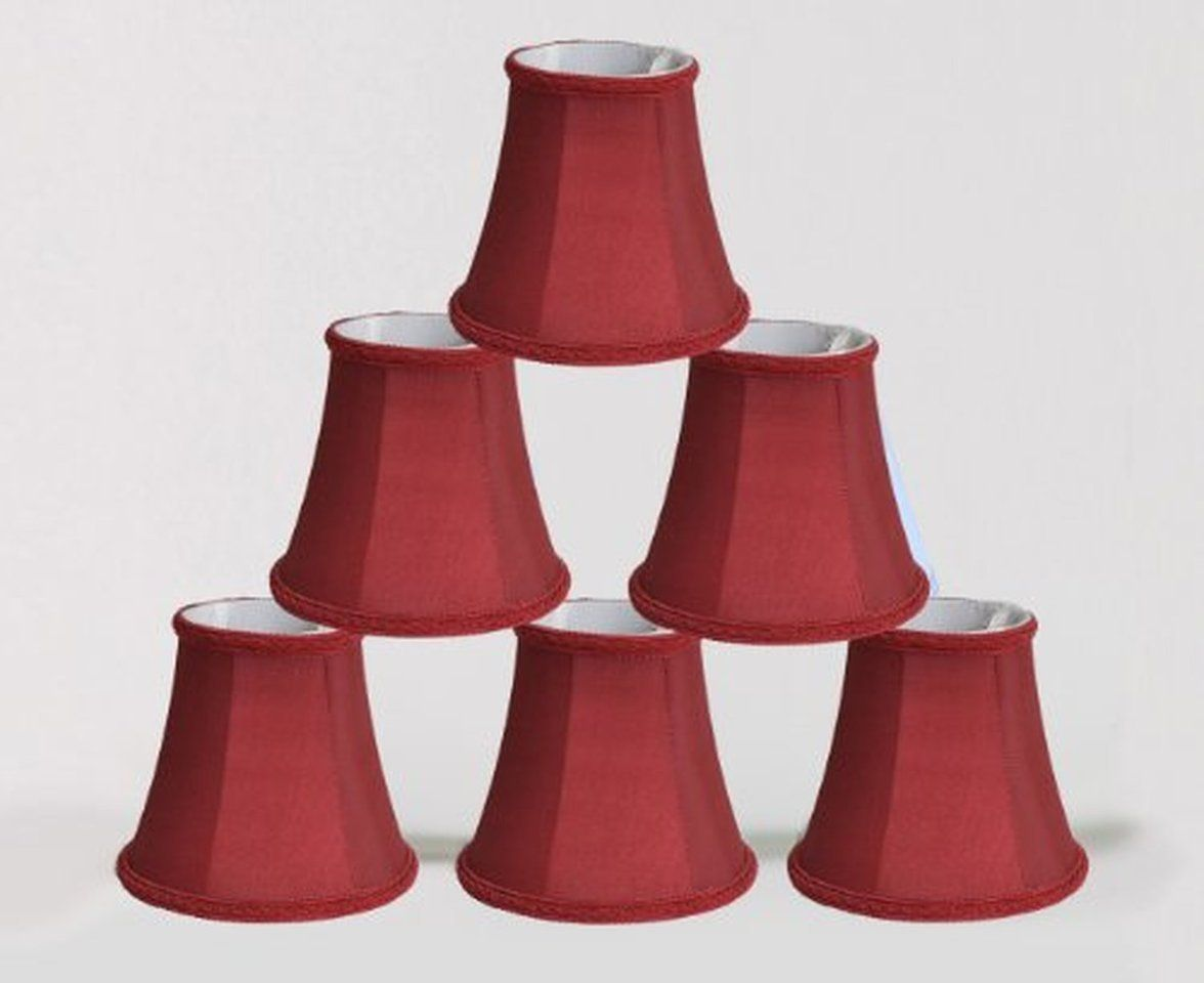 Urbanest Chandelier Mini Lamp Shades 5 inch, Bell, Clip On