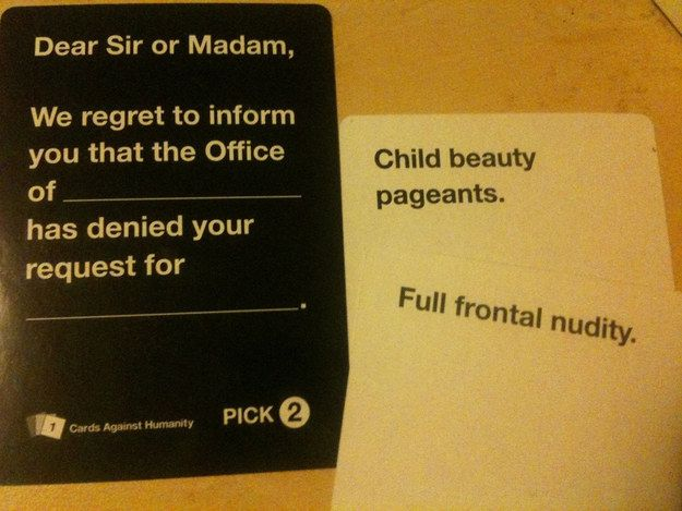 Funny Cards Against Humanity Meme : Image cards against humanity know your meme