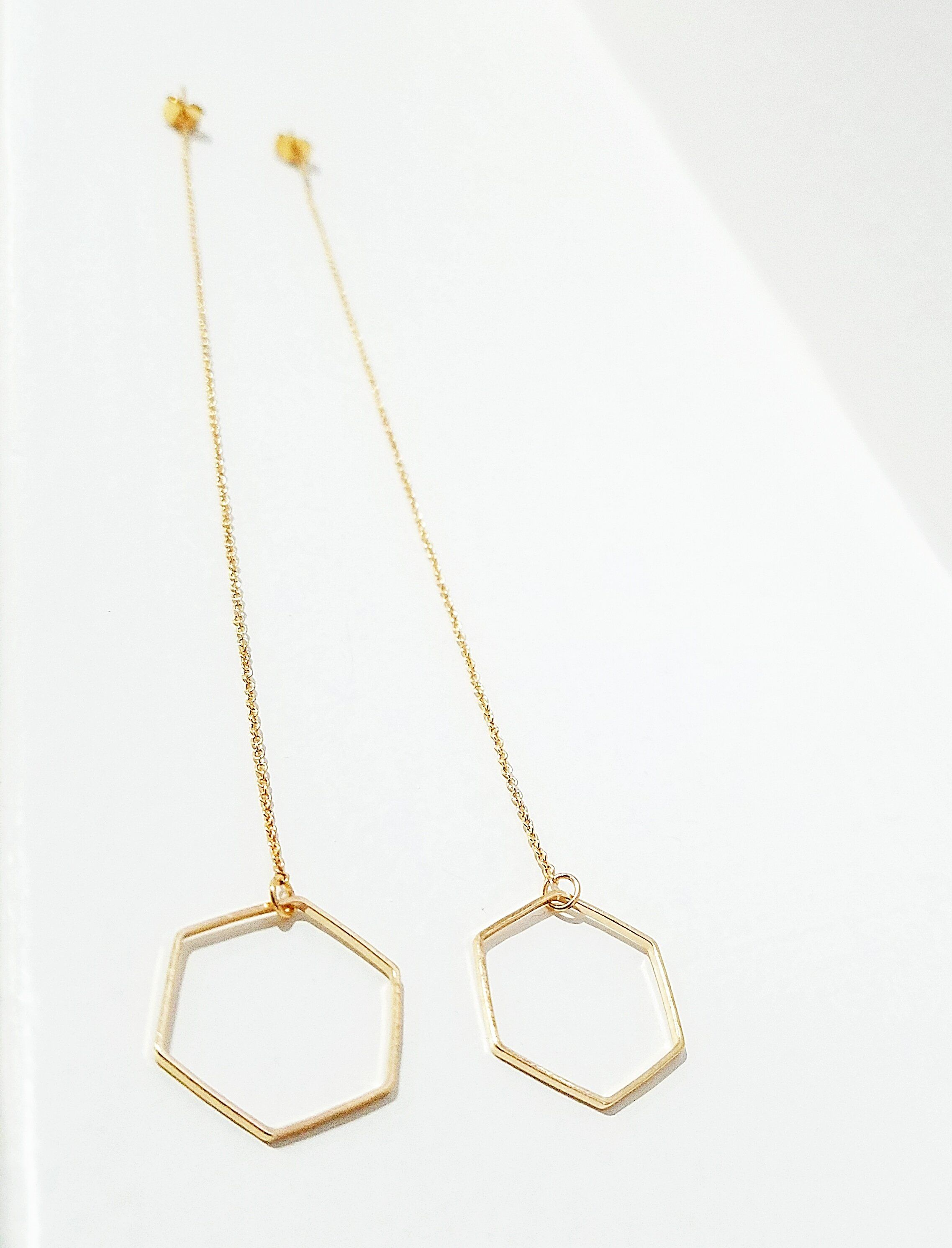 jewelry earrings hexagon mendoza paula product