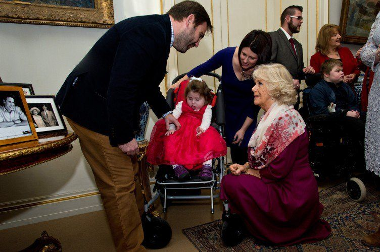 Camilla chats to the ill children and their families.