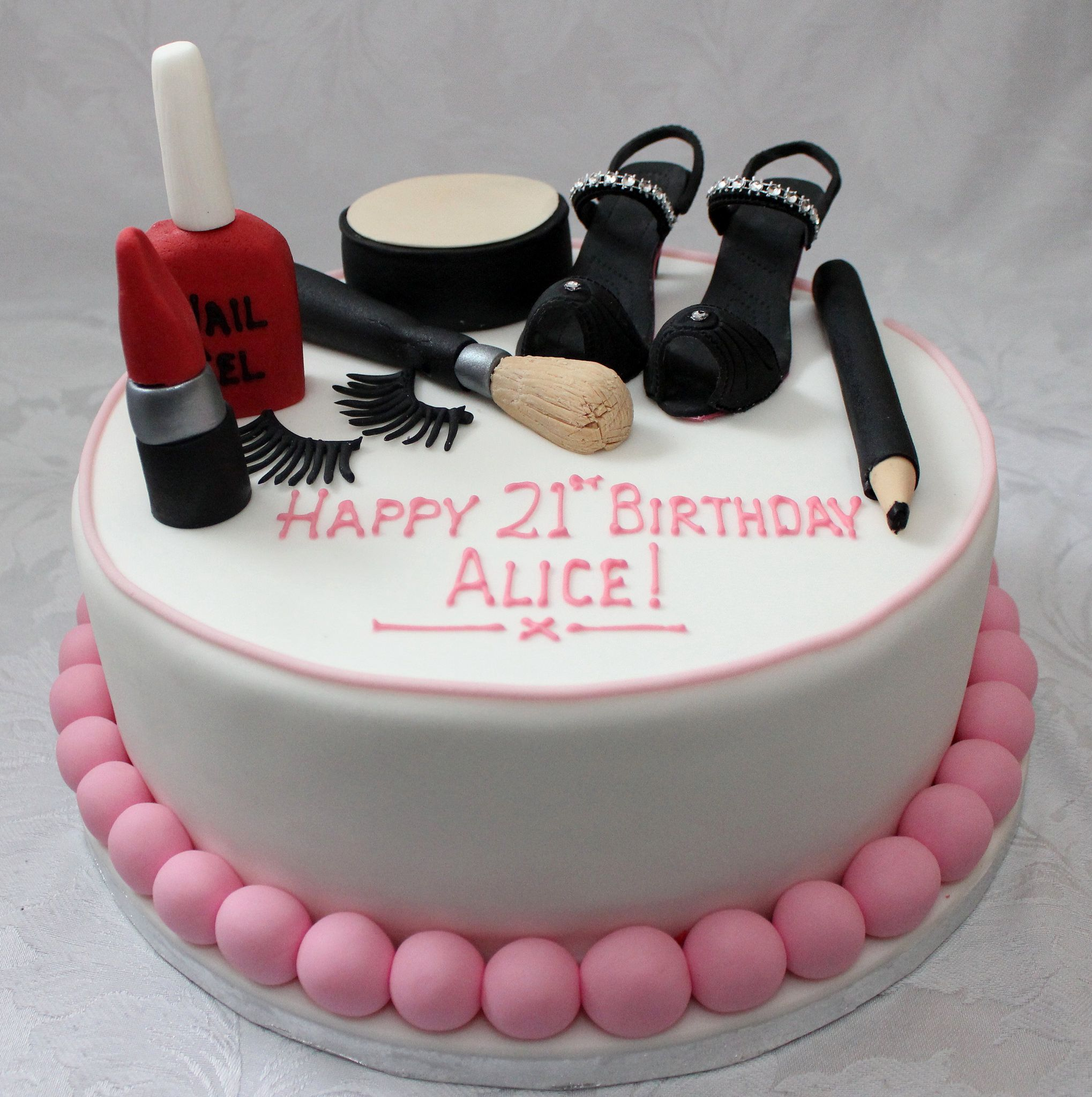 Makeup and High Heeled Shoes birthday cake!! in 2020