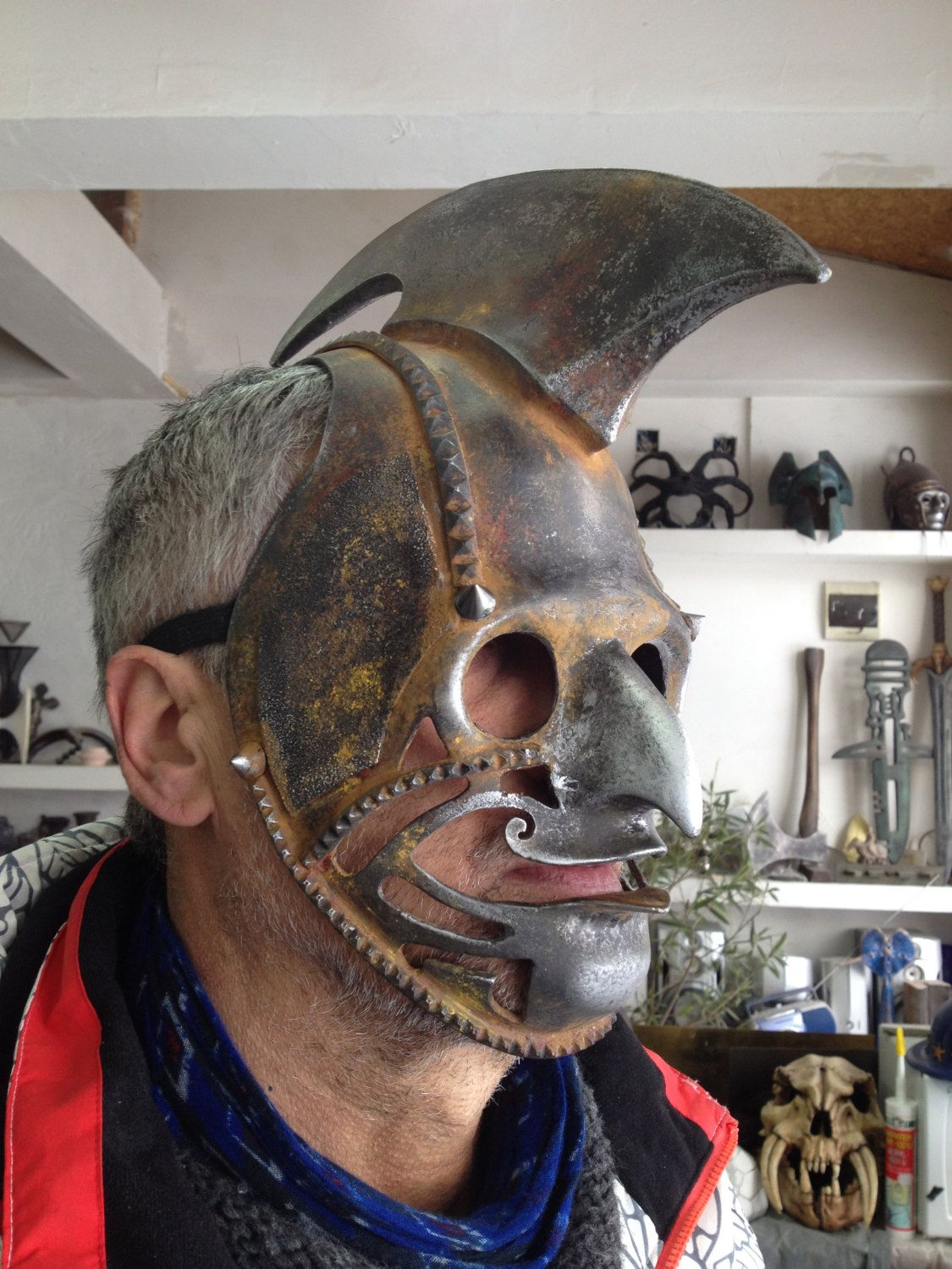 Steampunk Mask, Burning Men Festival Costume Mask Steampunk Helmet ...