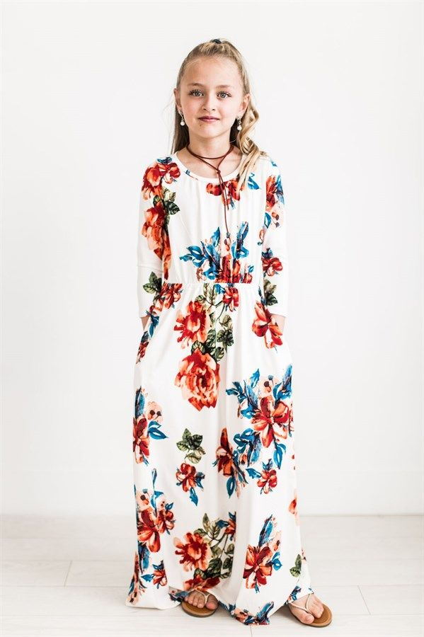 6ea19d08a07 This Kids Floral Maxi Dress is so adorable
