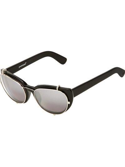 LINDA FARROW PROTOTYPE BY YOHJI YAMAMOTO Detachable Frame Sunglasses #farfetch