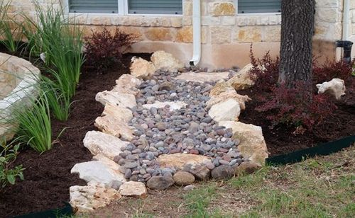 River Rock Drainage By Landscaping Austin Via Flickr