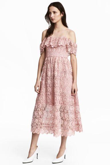 c65242f6 Sukienka z odkrytymi ramionami | sukienki | Sukienka, Falbany i Sukienki