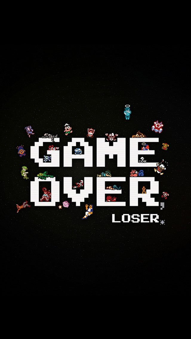 GAME OVER IPhone5 Check Wallpaper Box Smartphone Game Over Iphone5e5a381e7b499
