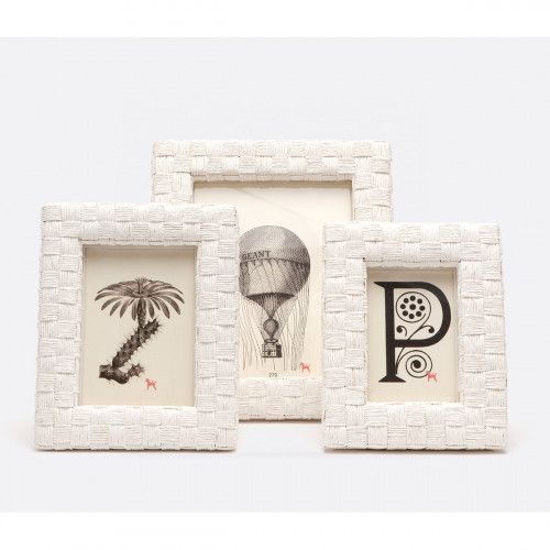 Pigeon   Poodle Nassau 4 In X 6 In White Rope Frame