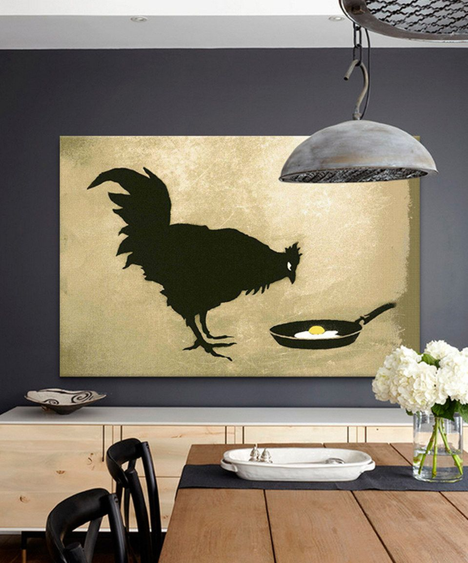 Another great find on #zulily! Chicken & Egg Replica Gallery-Wrapped ...