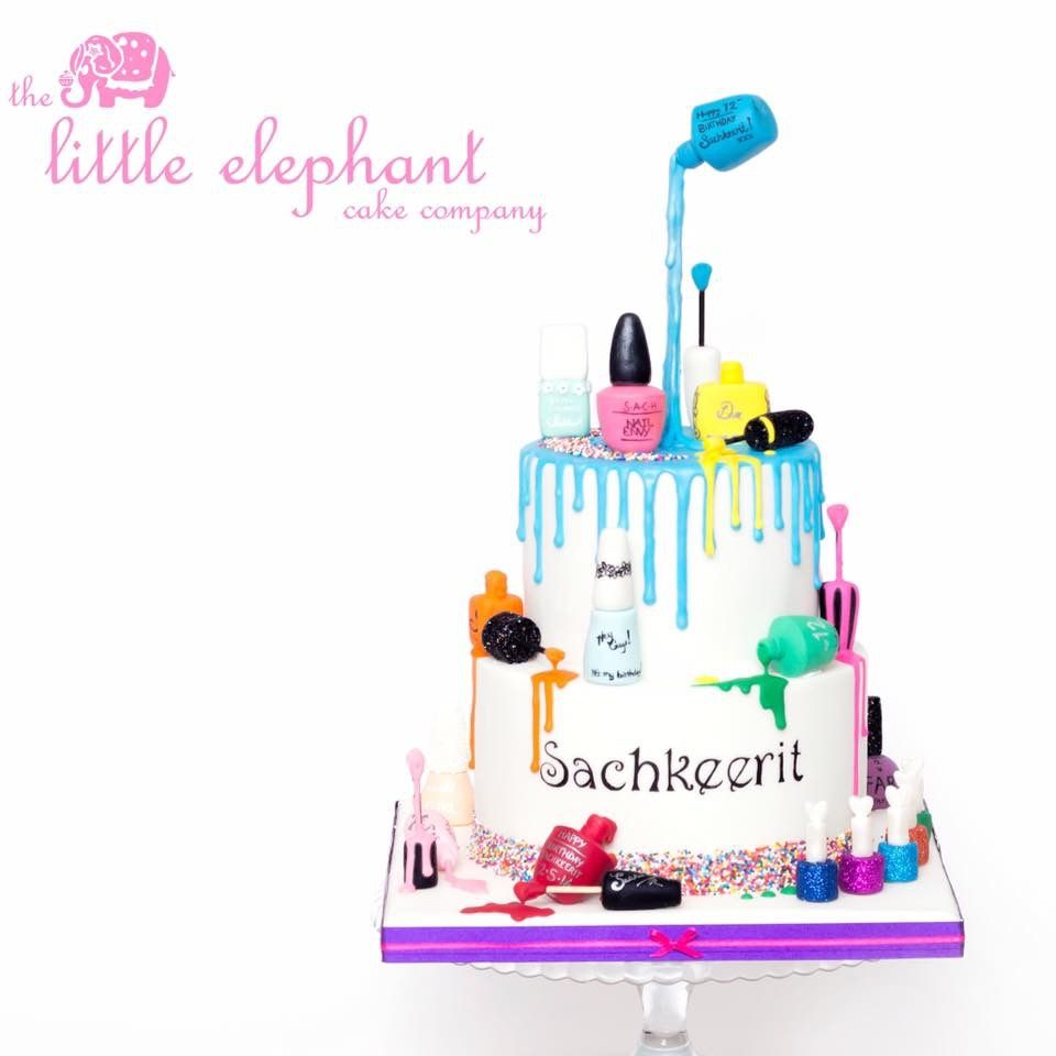 Nail polish cake … … | Pinteres…