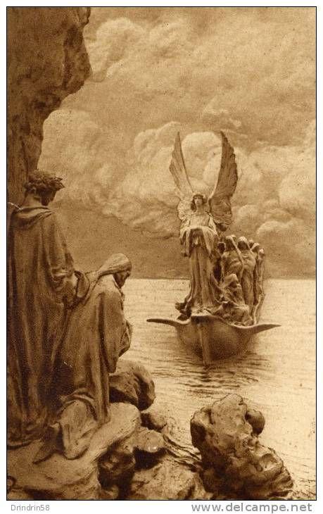 D. Mastroianni, postcard, Purgatorio II