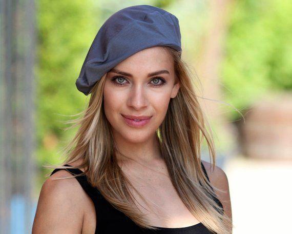 df0214623b04a Black Beret Hat Slouchy Beret Summer Beret Hat Spring Fashion Spring  Accessory Women s Beret Hat 192