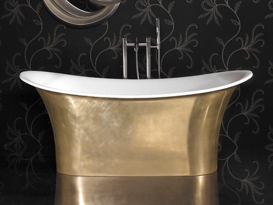 Freistehende Badewanne, Mineralguss Badewanne, Freistehende - freistehende badewanne raffinierten look