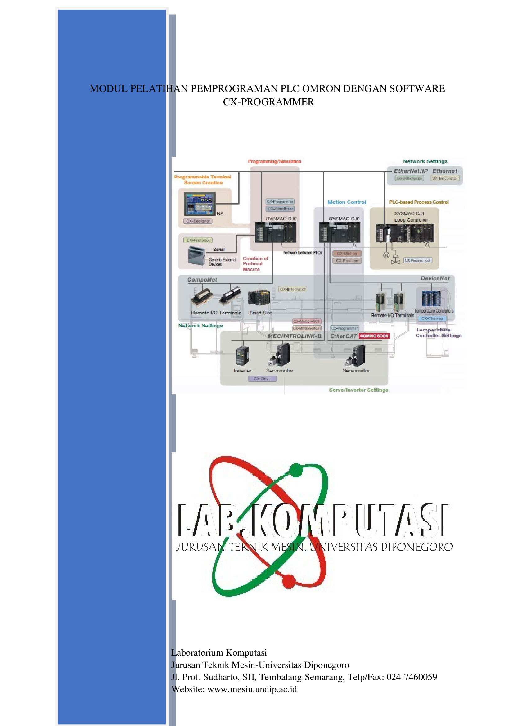 MODUL PELATIHAN PEMPROGRAMAN PLC OMRON DENGAN SOFTWARE CX-PROGRAMMER