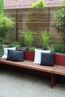 sichtschutz mit bank garden pinterest. Black Bedroom Furniture Sets. Home Design Ideas