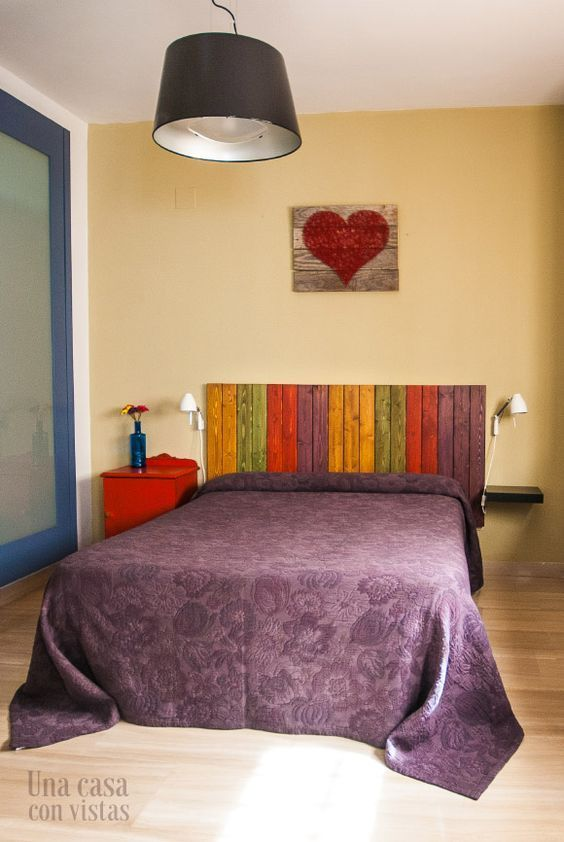 100 fotos de cabeceros de cama originales de madera de forja tapizados vintage home - Cabeceros cama originales ...