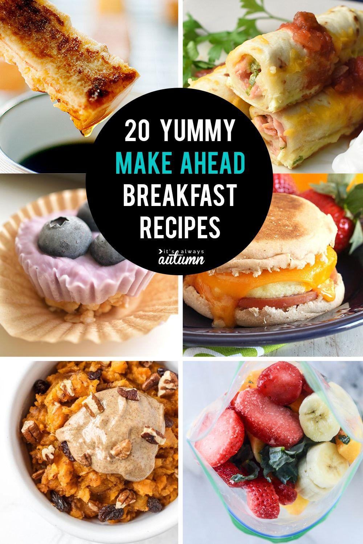 20 make ahead breakfasts for busy school mornings