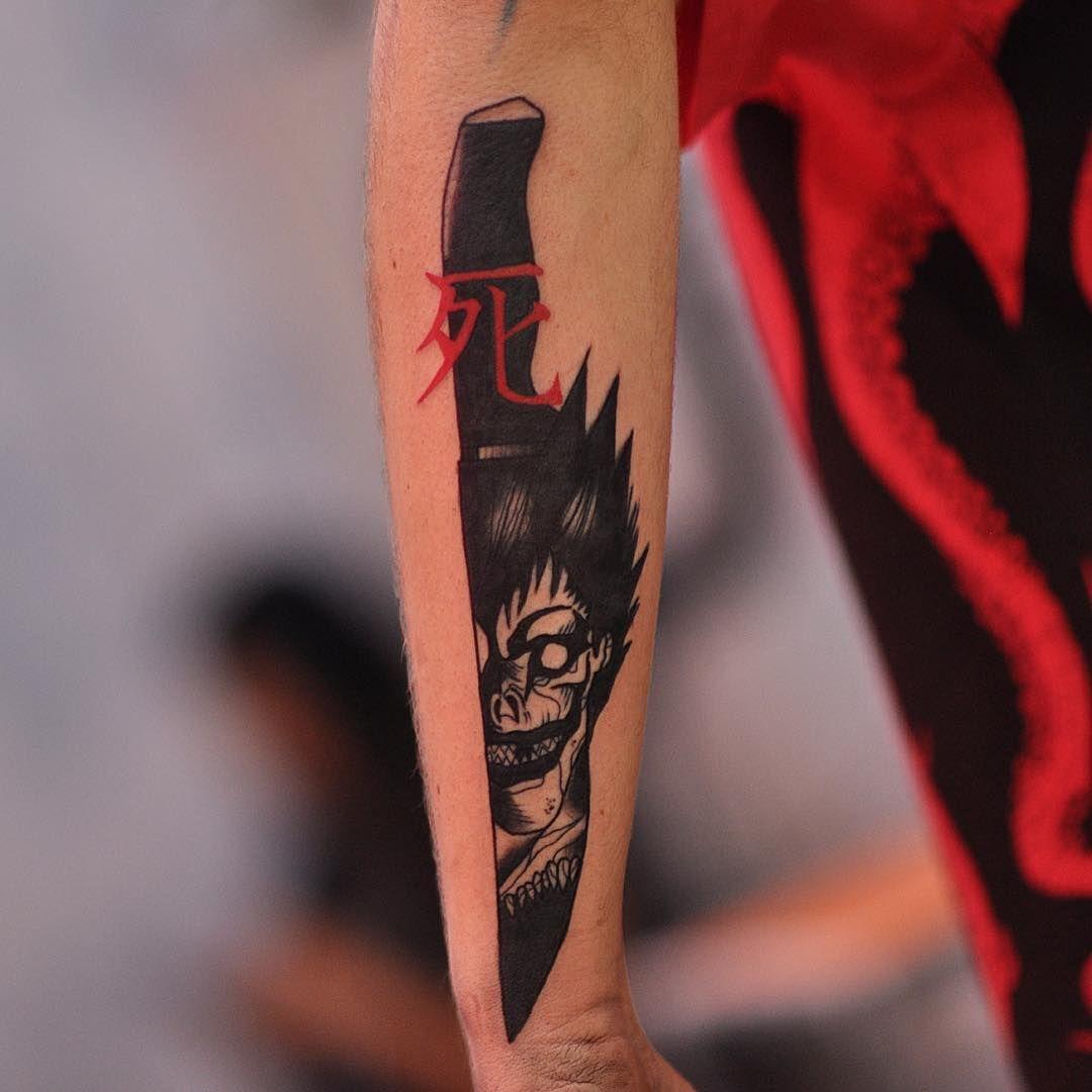 Deathnote Ryuk Tattoo By Ruddeluca Satatttvision Tattoos