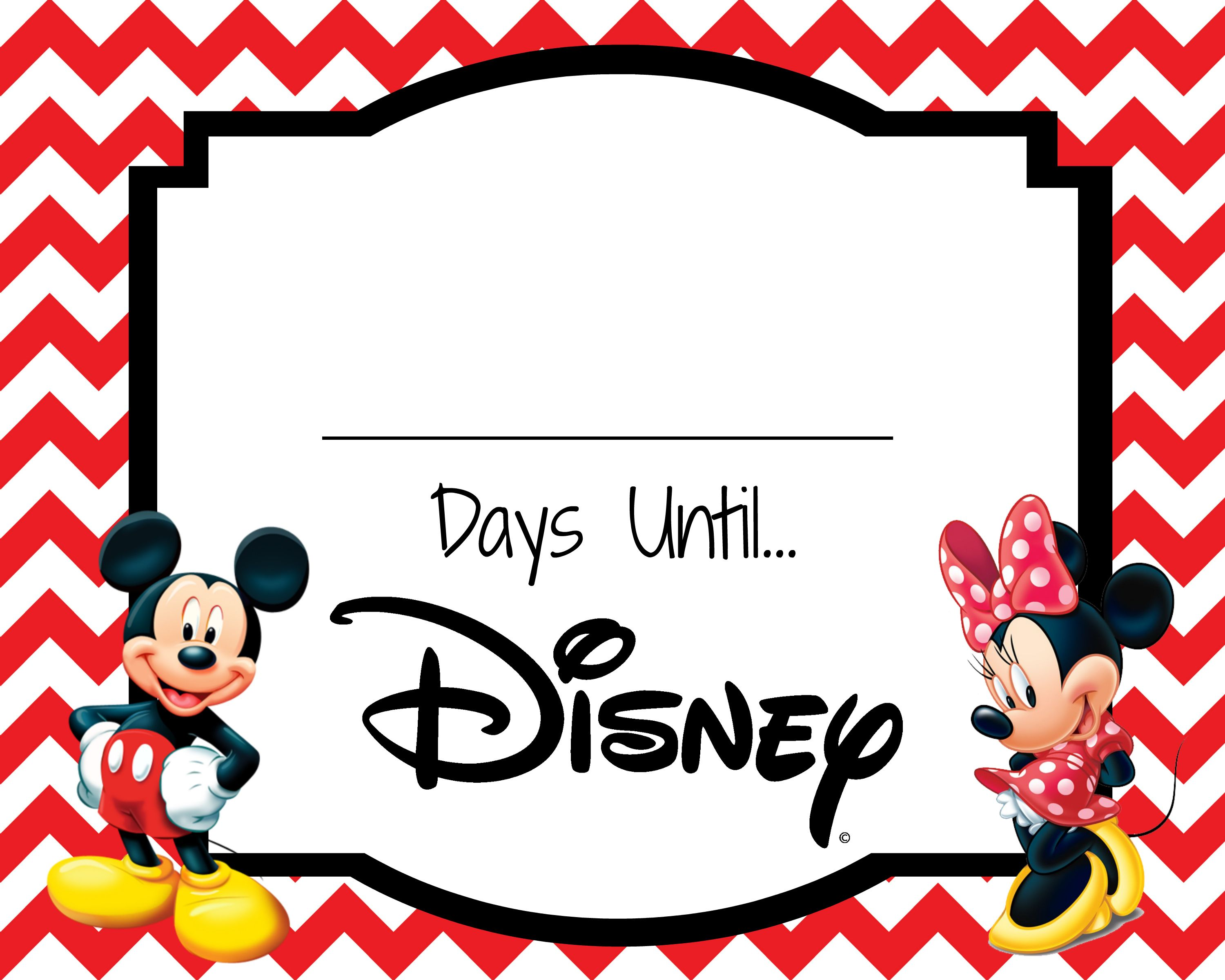 picture about Disney Countdown Printable identify Disney Countdown printable #countdown