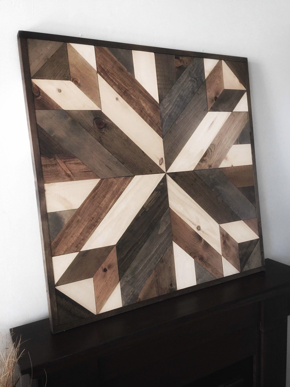 Reclaimed wood wall art barn star in brown diywoodprojects diy