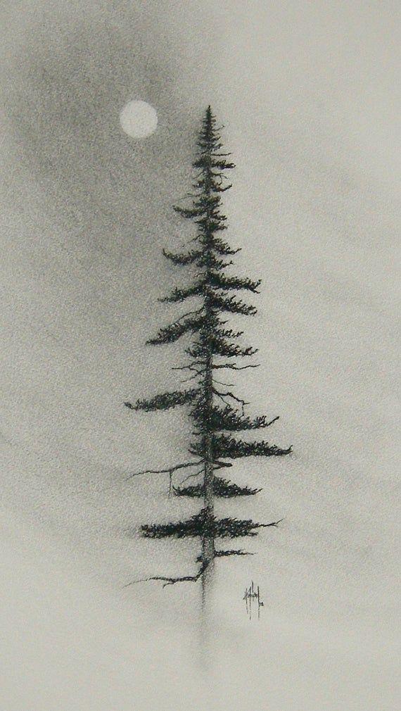 Charcoal Pine CHARCOAL PRINT | Etsy