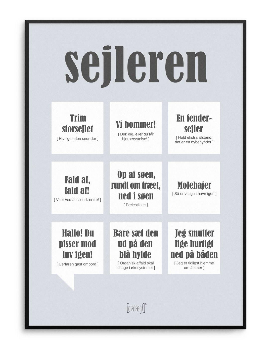 Sejleren Plakat Kob Online Sjove Citater Livets Sandheder Plakater