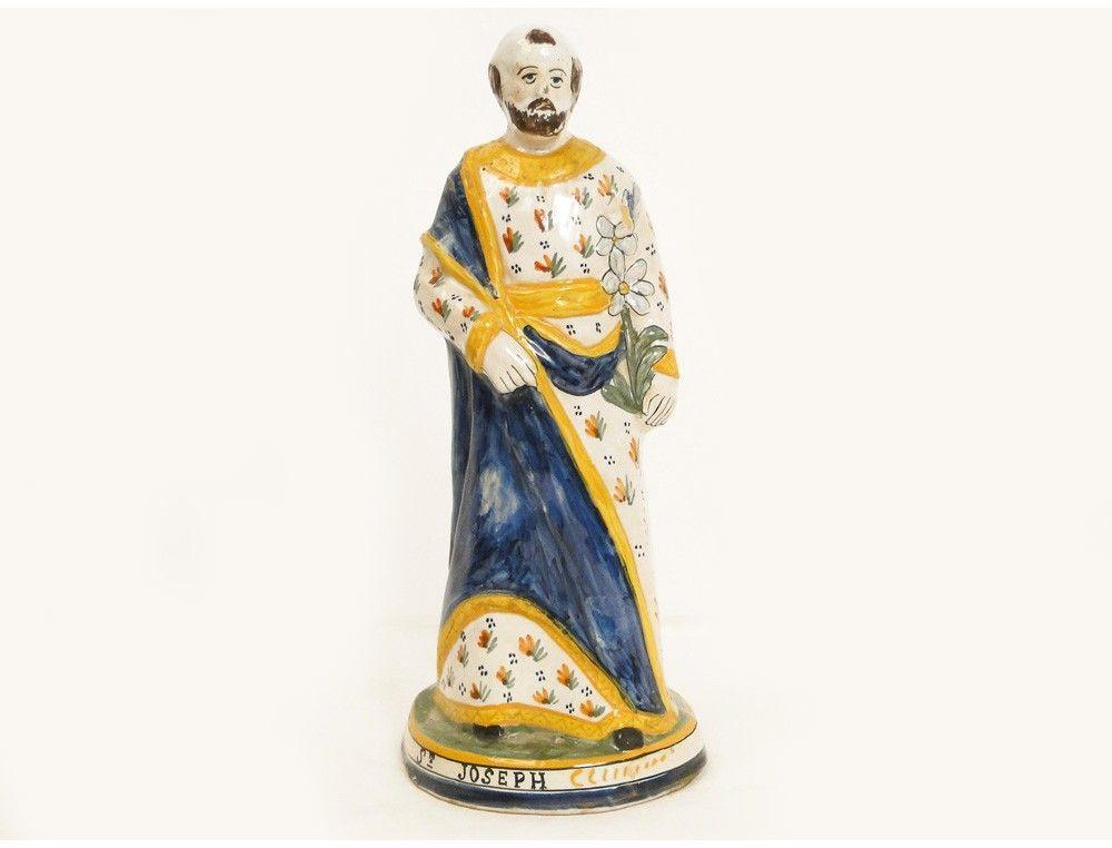 statue-saint-joseph-faience-hr-quimper-fleur-de-lys-19e.jpg 1000×762 pixels