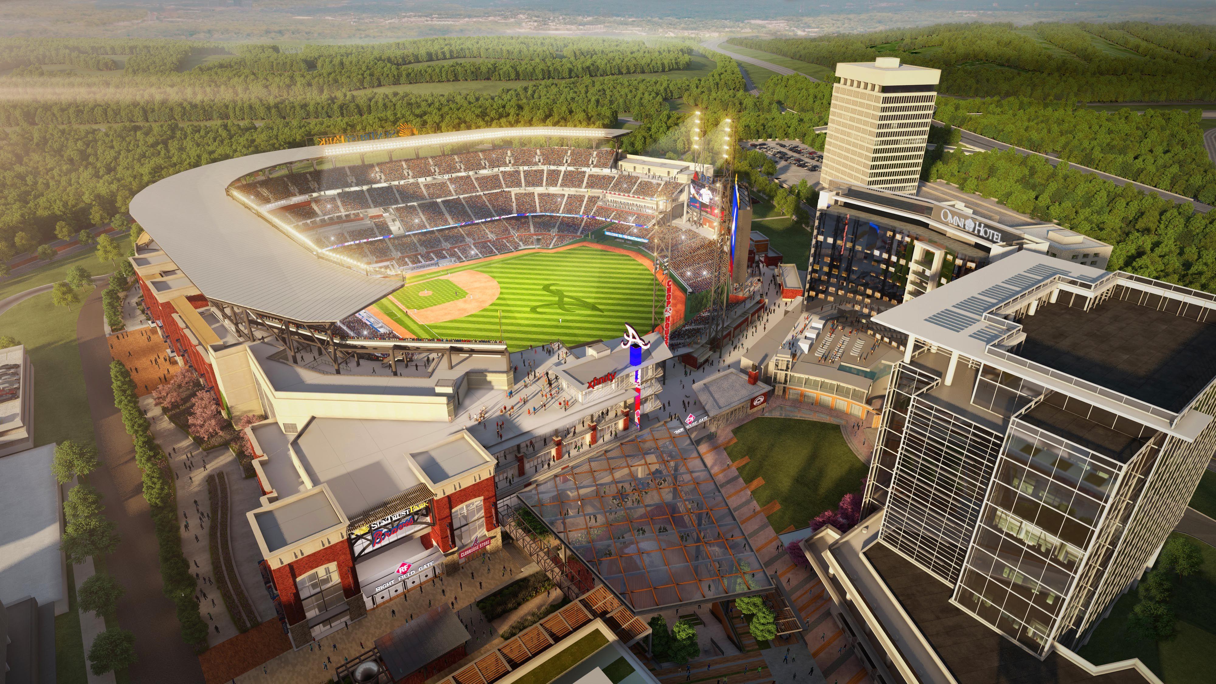New Braves Stadium Atlanta Braves Braves Atlanta