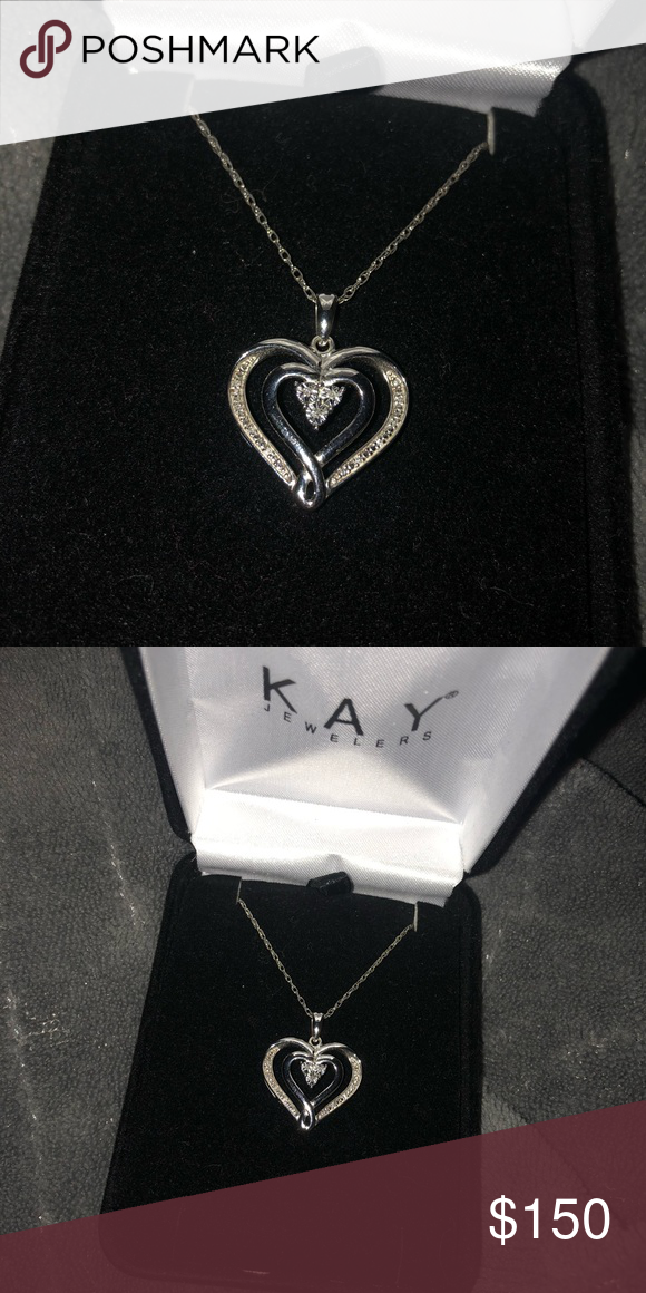 2d68cc6c9 kay jewelers heart necklace sterling silver and diamond kay jewelers heart  necklace Kay Jewelers Jewelry Necklaces