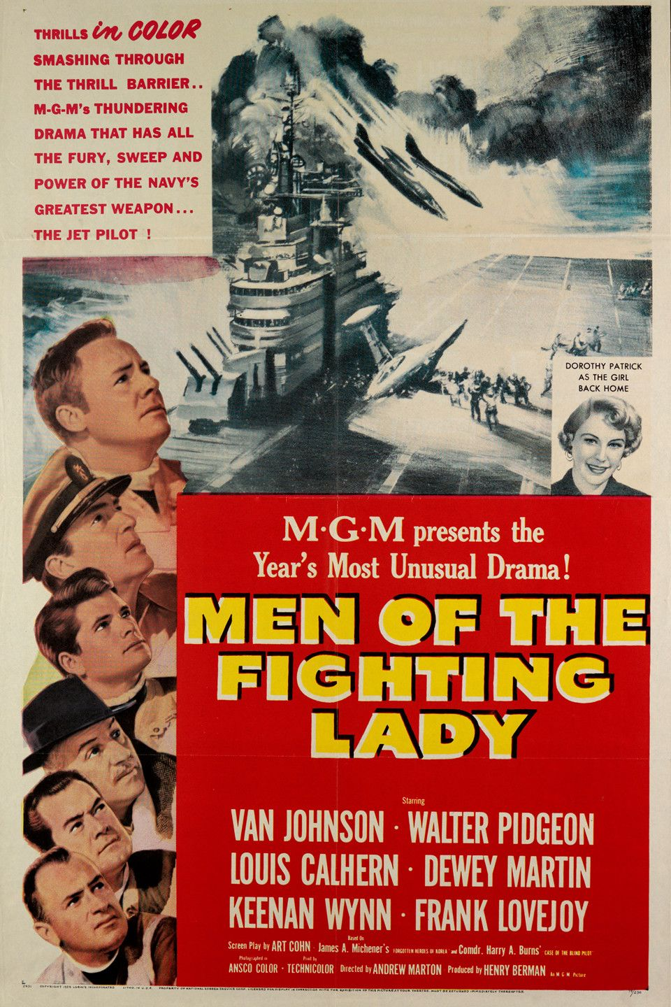 Men Of The Fighting Lady 1954 Force Movie War Film Movie