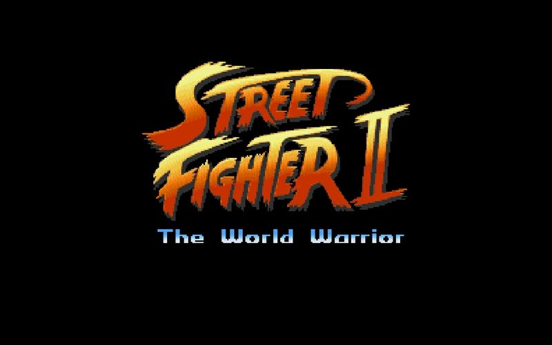 Video Games Street Fighter Old Game Logos Retro 1440x900