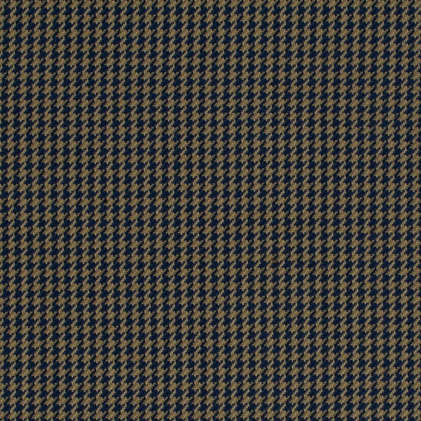 Midnight Blue And Brown Houndstooth Upholstery Fabric Upholstery