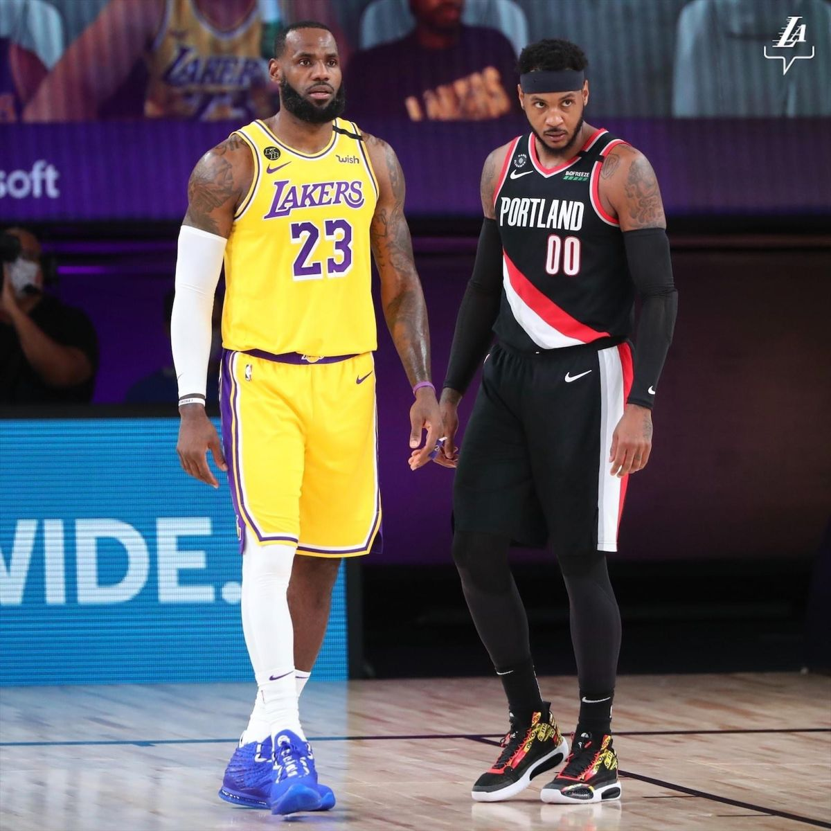 Lebron James Carmelo Anthony In 2020 Lebron James Los Angeles Lakers Carmelo Anthony