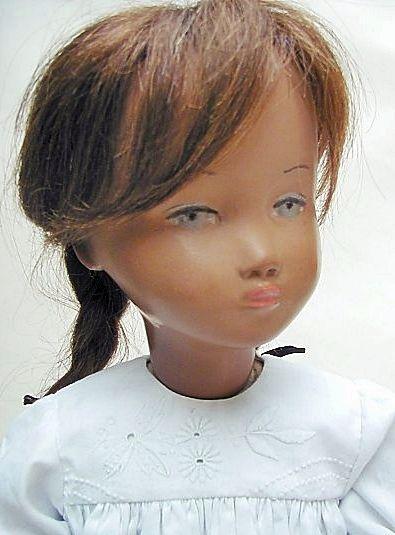 "19-20"" gypsum Studio Sasha doll, with hard CIV body and Type IV head mold, wearing human hair wig, Switzerland, 1954, by Sasha Morgenthaler."