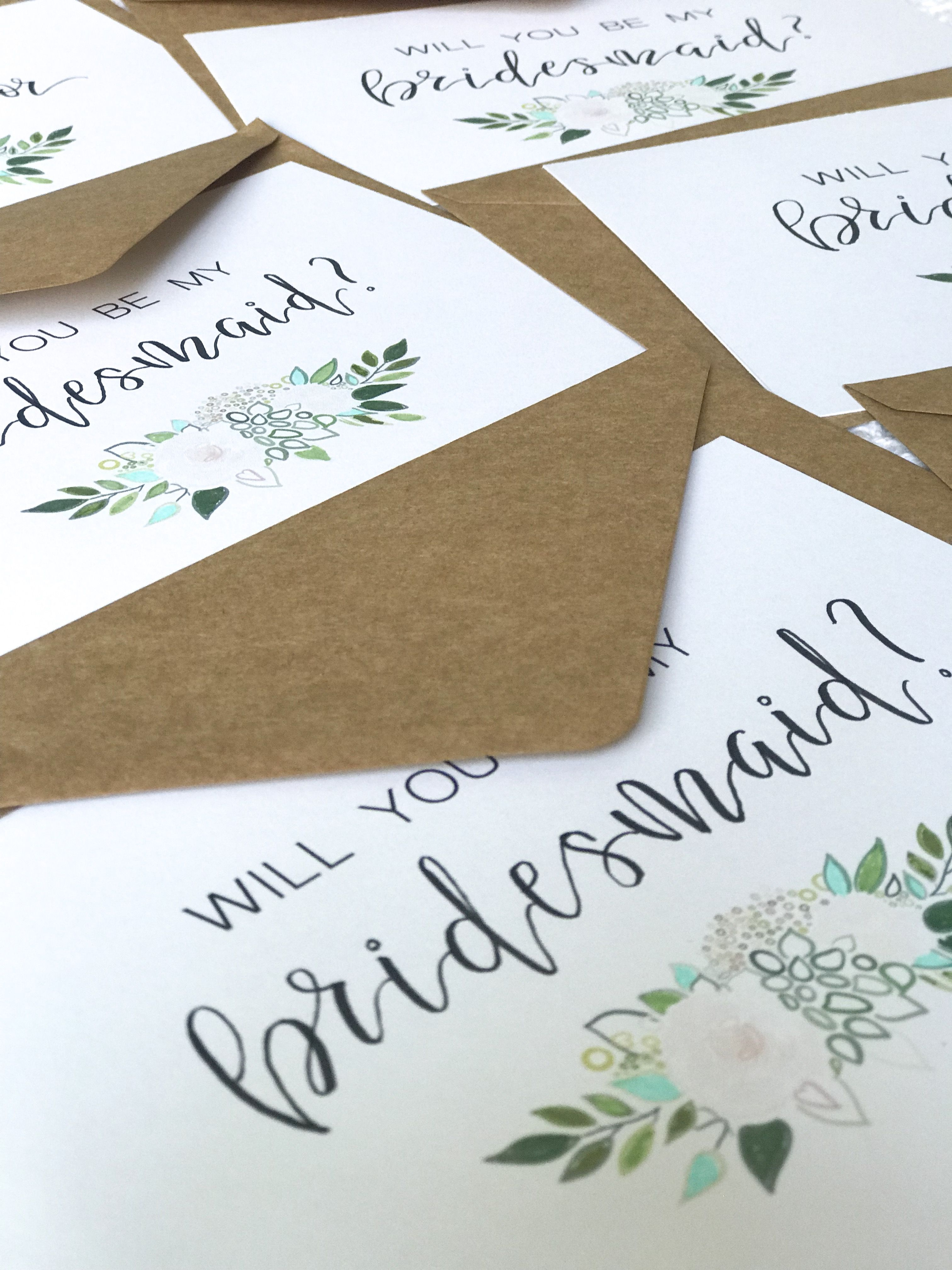 Bridesmaids cards etsy bridesmaid cards wedding place