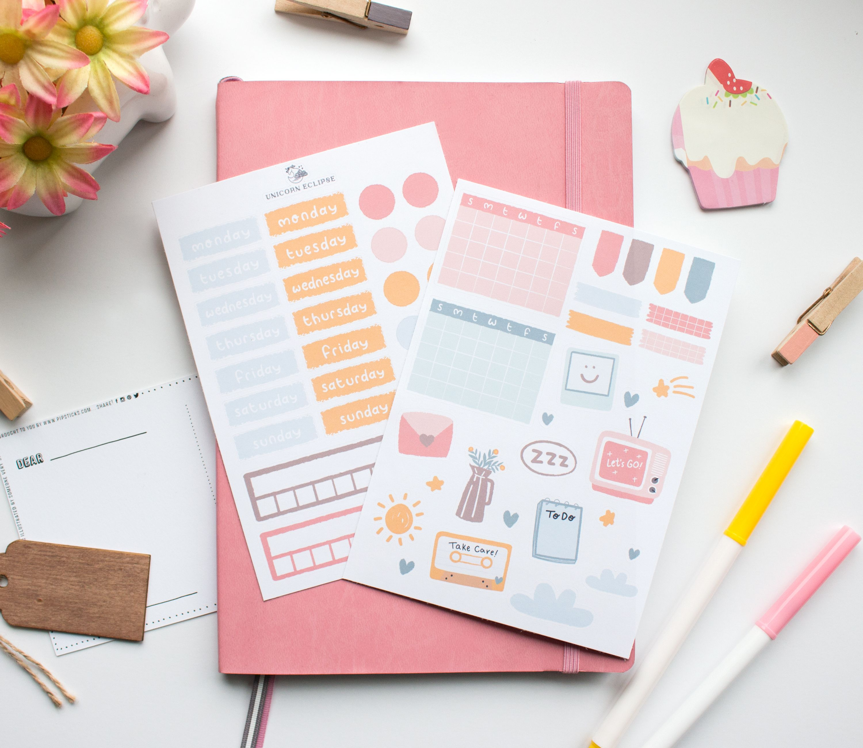 Fashion Student Stickers Watercolor Stickers Bullet Journal Agenda 2021 Organization Scrapbook Supplies Stationery Material