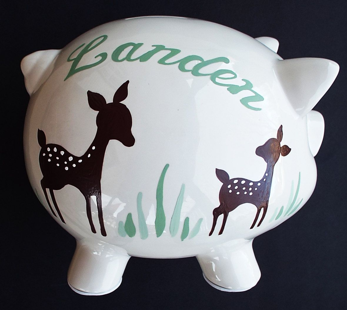 Personalized piggy bank custom boy girl hand painted baby shower personalized piggy bank custom boy girl hand painted baby shower or birthday gift by jumakardesigns on negle Choice Image