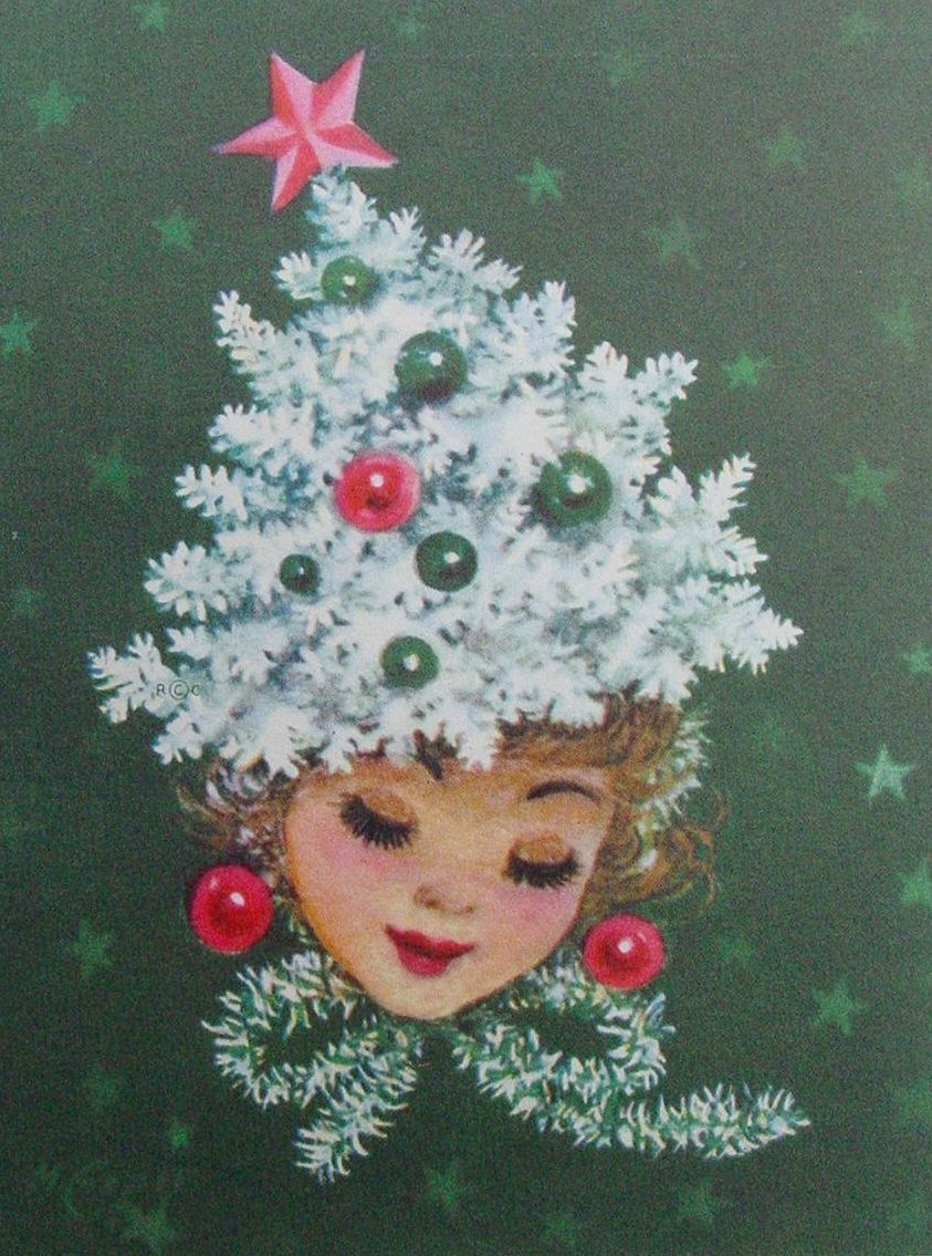 Pretty Christmas Lady | ~ Cards Christmas Girls~ | Pinterest ...