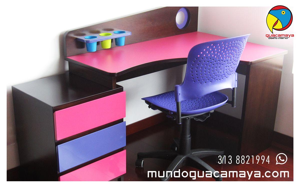 Escritorio En Madera Para Ni Os Y Ni As Dise Ado A Medida Y  # Muebles Infantiles Bogota