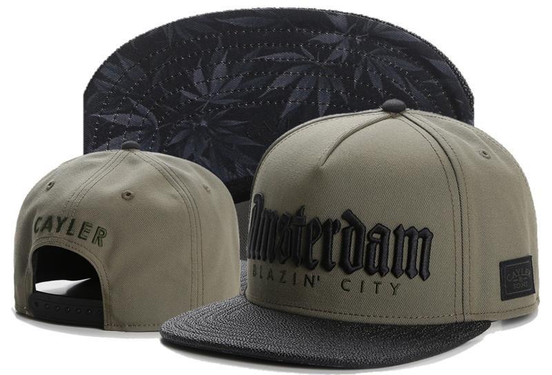 a5f5c0d9042 Men s Cayler   Sons C   S WL Amsterdam Blazin  City Snapback Hat - Olive    Black