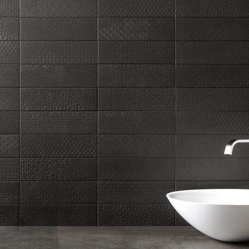 Tessuto Carbone 4x12 Porcelain Matte Tile Mosaicos