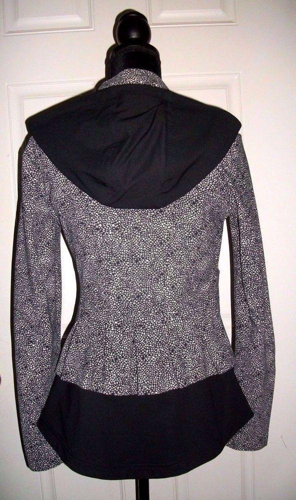 0a62204fcc Lululemon Hoodie Bust a Move Riding Peplum Ruffle Jacket Black Floral Size  10 #Lululemon #CoatsJackets