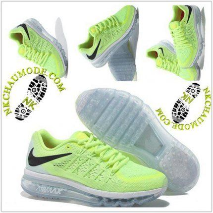 low priced b5367 5ade9 Tendance  Nike Chaussure Sport Air Max 2015 Femme JauneBlanc
