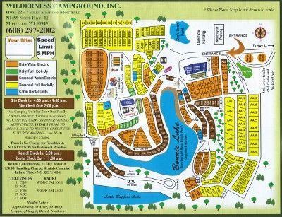 Wilderness Campground Map Tent Pinterest Wisconsin Dells And