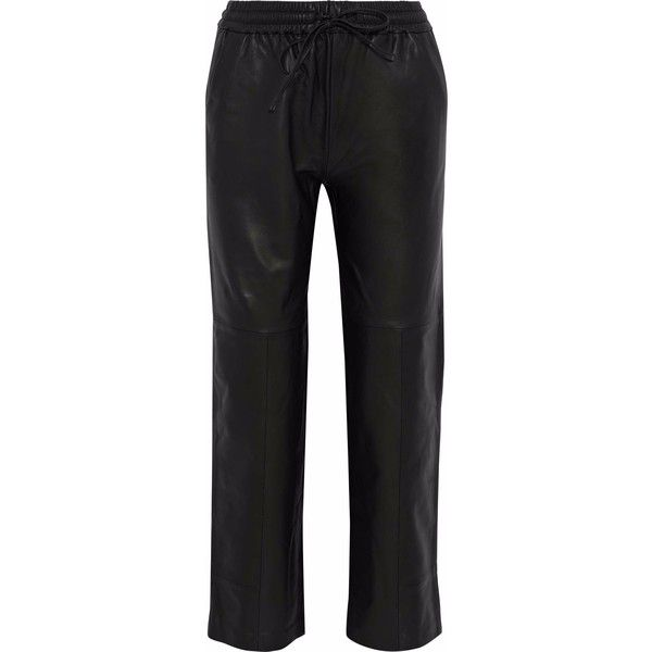 c7e12f76de99 J Brand Leather straight-leg pants (£477) ❤ liked on Polyvore featuring  pants