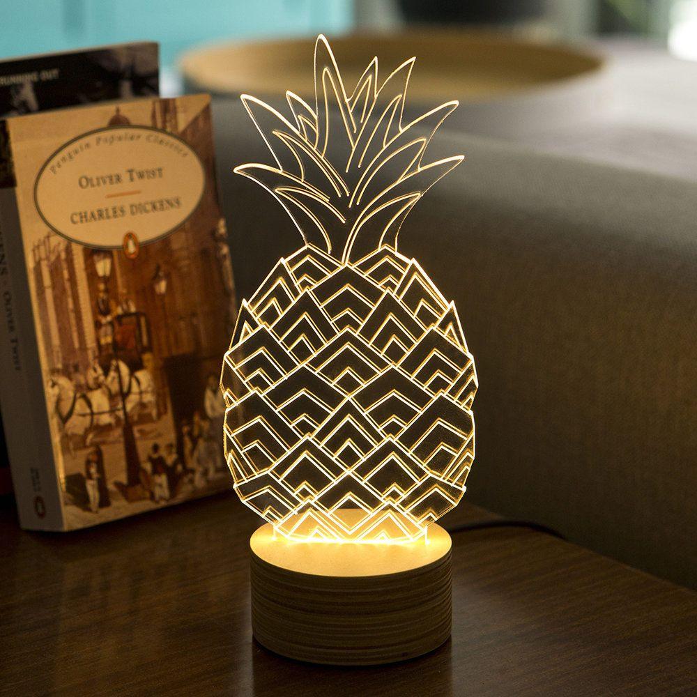 Buy Bulbing Pineapple Lamp Glass Plywood Birch Amara Pineapple Lamp Glass Lamp Lamp