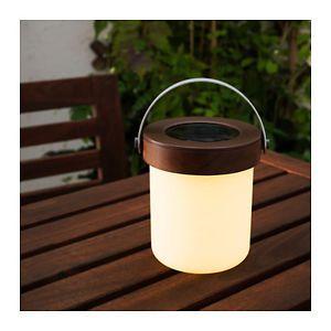 Ikea Solvinden Led Solar Powered Table Lamp Acacia 6 Homesteading