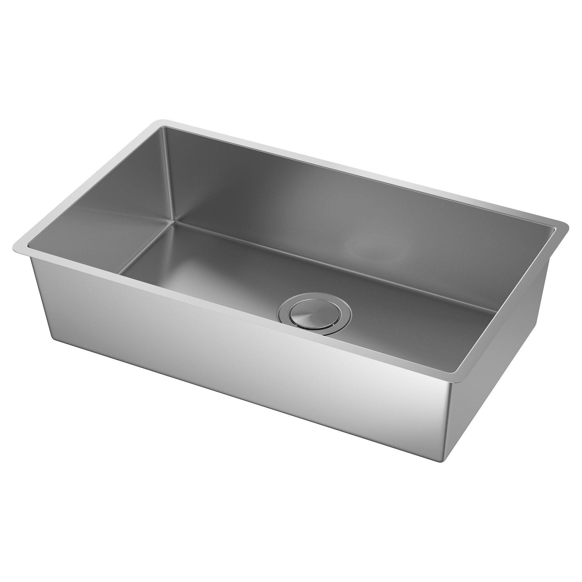 "NORRSJÖN Sink stainless steel 29x17 3/8 "" (74x44 cm"