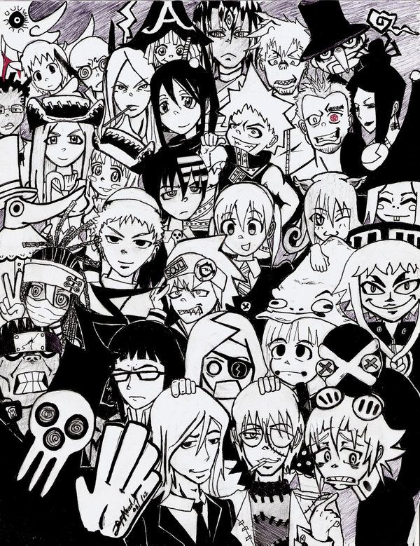 SOUL EATER by DustyOld-Clock.deviantart.com, Sweet representation, the Crona is really cute!