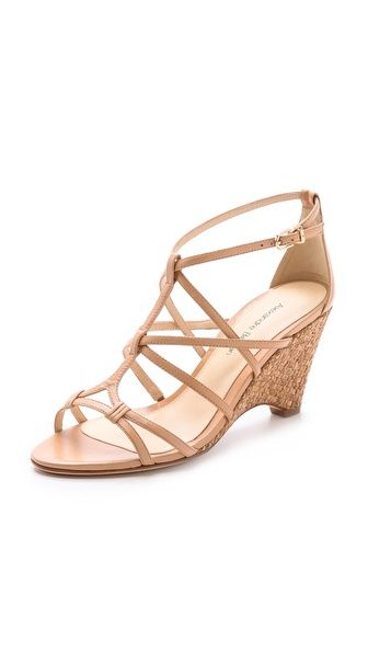 3b5281db35b Alexandre Birman Woven Cork Wedge Sandals